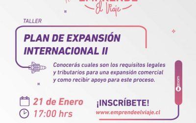 Taller 2: Plan de Expansión Internacional II (E-4)